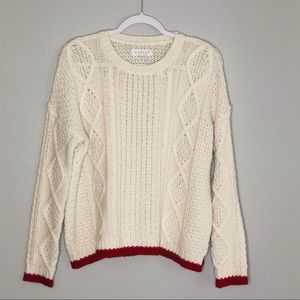 Velvet Graham & Spencer Alpaca Wool Sweater Ivory